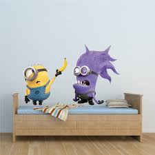 minion wall decals minion wallpaper is the easiest way to kids