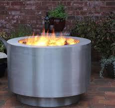 Steel Firepits Interesting Stainless Steel Firepit Remodel Best Home Design