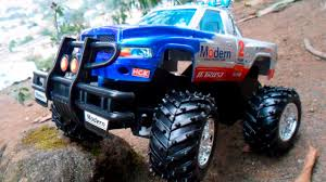 bigfoot presents meteor and the mighty monster trucks red race car on the road and police monster trucks for kids