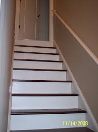 painted basement stairs painting wood basement steps danks and honey