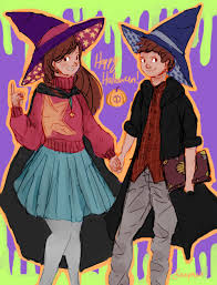 Mabel Dipper Halloween Costumes Coven Au Mabel