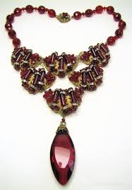 fashion jewelry red necklace images 2487 best jewelry miriam haskell and stanley hagler images on jpg