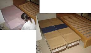 diy u2013 how to make your own bed using ups or fedex boxes