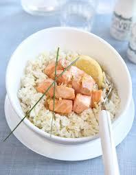 cuisine saumon recette riz a poêler au saumon et crème fraiche recette cuisine