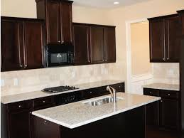Brick Kitchen Backsplash by Kitchen Backsplash With Dark Cabinets U Shaped Brick Kitchen