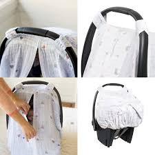 couvre siège auto bébé couvre siège d auto en mousseline de bébé au lait