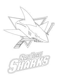 san jose sharks logo coloring free printable coloring pages