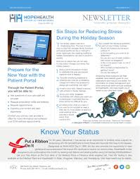 Careteam Family Health Your Healthcare December 2017 Patient Newsletter Hopehealth