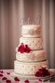 wedding cakes with bling pink and bling wedding cake cakecentral