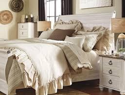 Whitewash King Bedroom Furniture Willowton Whitewash King Sleigh Bed From Ashley Coleman Furniture