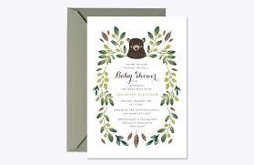 bear cub baby shower invite invitation templates creative market