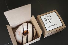 personalized donut boxes dozen donut favor boxes single kraft donut box wedding