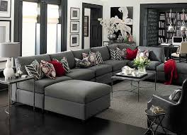 Movie Sectional Sofas Grey Sectional Sofa Ritz Sleeper Sectional Sofa In Grey Gray