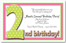 2 birthday invitation wording second birthday party invitations