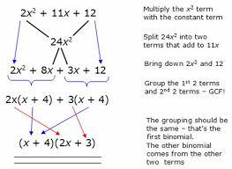 math tutors in home factoring trinomials by grouping