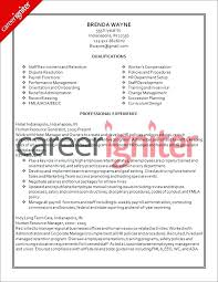 sample functional resume for human resources assistant best hr