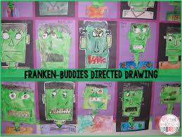 First Grade Halloween Crafts by Frankenstein Frankenbuddies Directed Drawing Directed Drawing