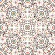 ethnic seamless pattern with circle ornament fabric or textile