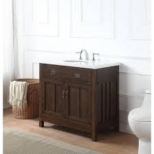 Richmond Bathroom Furniture Richmond Bath Vanity In Antique Oak With Grey And White Marble Top