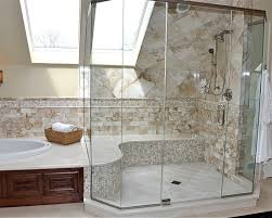 simple stylish bathroom design ideas tub surround shower seat