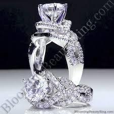 unique designer engagement rings 6 prong beautiful crossover pave set designer engagement ring