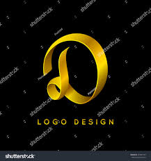 letter d luxury logo design gold stock vector 429931729 shutterstock