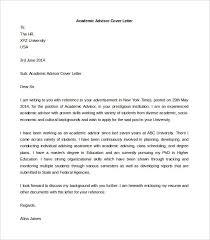 sample academic advisor cover letter cover letters