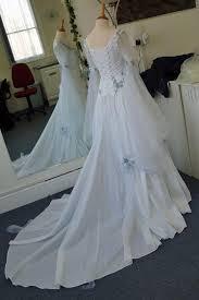 celtic wedding dresses cheap vintage celtic wedding dresses white and pale blue colorful
