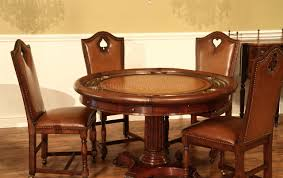 round poker table with dining top round leather top poker table mahogany games table