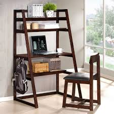 Wooden Ladder Bookshelf Plans by Fair Leaning Bookshelf Desk Ideas Stair Railings Of Leaning