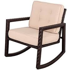 Rocking Chair Patio Furniture by Amazon Com Sundale Outdoor Portable Wicker Rocking Chair With