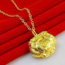 gold lock necklace images Wholesale don 39 t rub off the gold lock and lock 999 thousand baby jpg