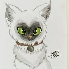 siamese cat drawing by pokemonmlplps on deviantart