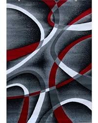 Modern Black Rugs Amazing Deal On 2305 Gray Black White Swirlss 2 2 X7 4 Runner