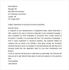underwriter cover letter format