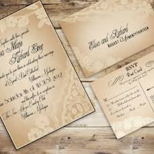 vintage lace wedding invitations diy vintage burlap lace wedding invitation with white flowers and