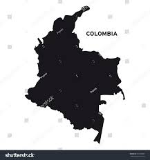colombia map vector colombia map vector stock vector 291850805