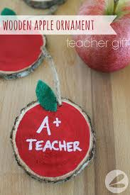 wooden apple ornament gift