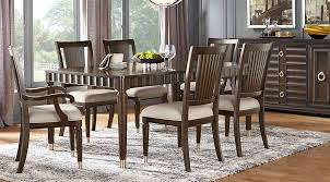 dining room sets michigan cindy crawford home michigan avenue brown 5 pc rectangle dining room