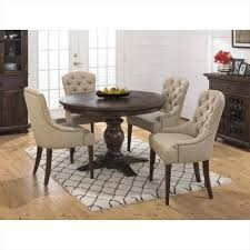 tufted jofran round dining room sets for 8 geneva hills pc round