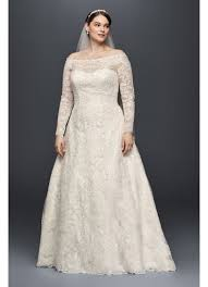 beaded wedding dresses the shoulder plus size beaded wedding dress david s bridal