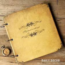 leather scrap book aliexpress buy high quality vintage diy handmade leather