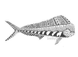saltwater fish drawings by inkbydeb on etsy crafts pinterest