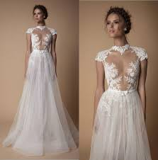 high wedding dresses 2011 discount high neck boho wedding dresses berta bridal capped