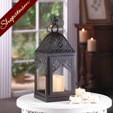 48 wholesale black medium filigree lanterns wedding centerpieces