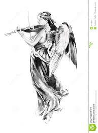 sketch of tattoo art angel stock image image 17102051