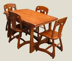 Maple Dining Room Set by Uhuru Furniture U0026 Collectibles 1940 U0027s Rock Maple Dining Set Sold