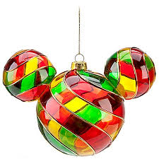 ornament mickey mouse ears stained glass