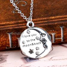 love star necklace images I love you to the moon back moon face necklaces family best friend jpg