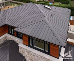 charcoal gray metal roof ziplok charcoal close up west vancouver